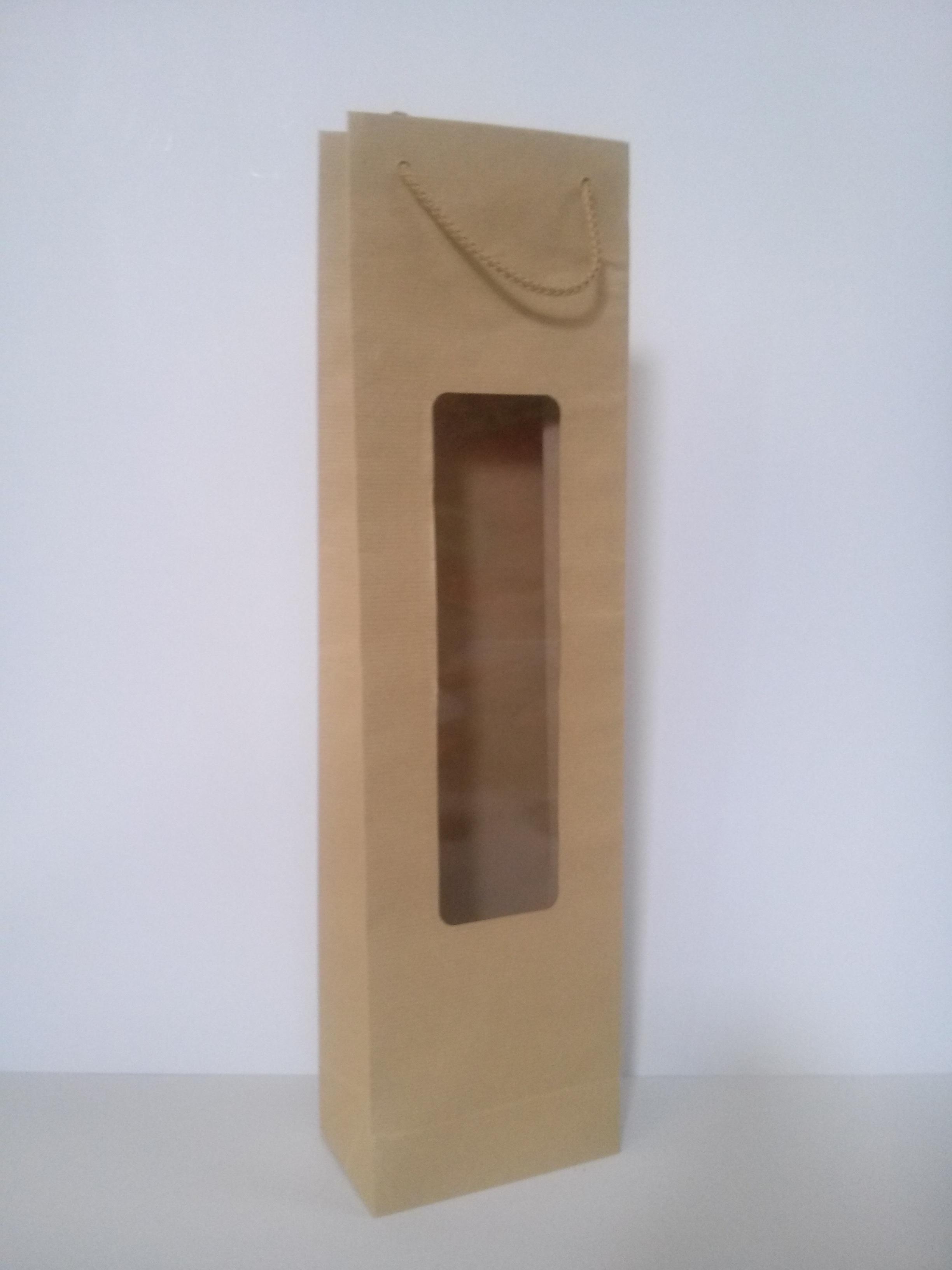 κραφτ με κορδόνι και παράθυρο Image