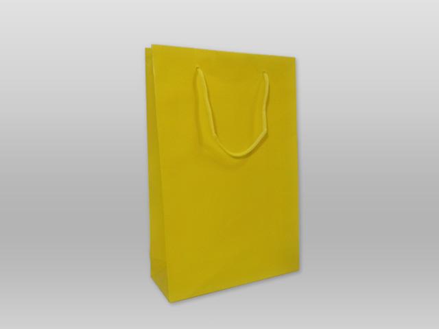 Χάρτινες τσάντες με κορδόνι κίτρινη Image
