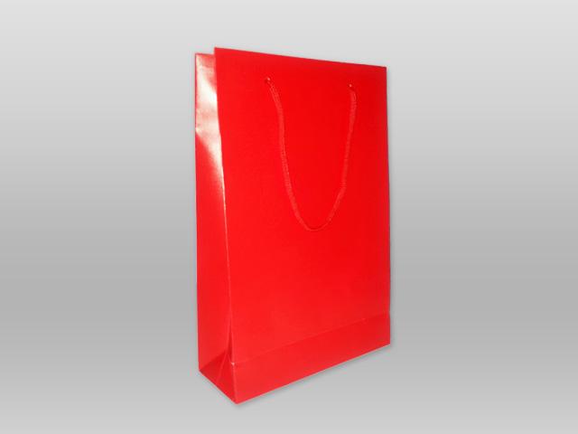 Χάρτινες τσάντες με κορδόνι κόκκινη Image