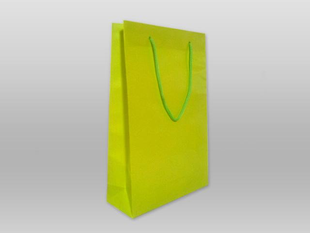 Χάρτινες τσάντες με κορδόνι λαχανί Image