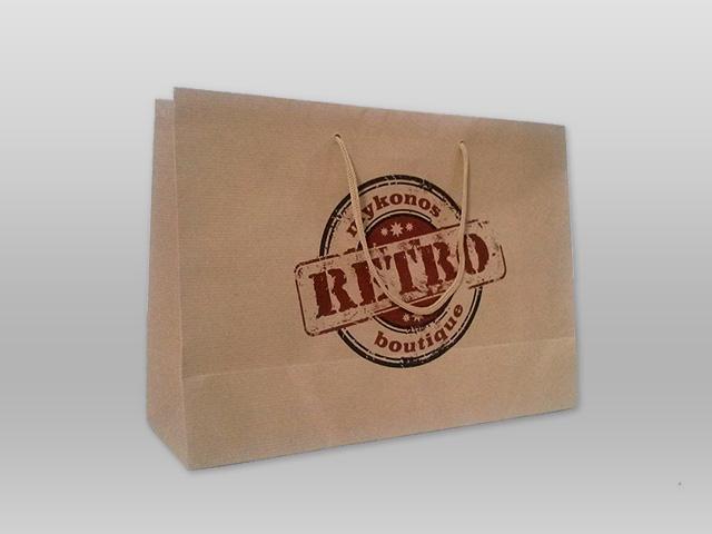 Τσάντα κραφτ RETRO Image