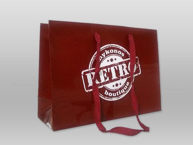 Τσάντα πλαστικοποιημένη RETRO Image